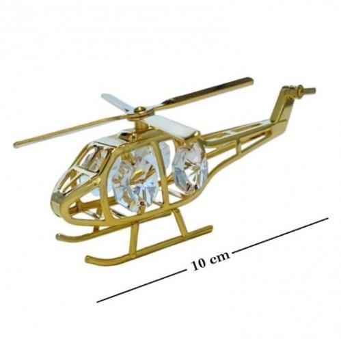 Swarovski  3393  Фигурка  Вертолет с кристаллами.10*5,5*4,5см