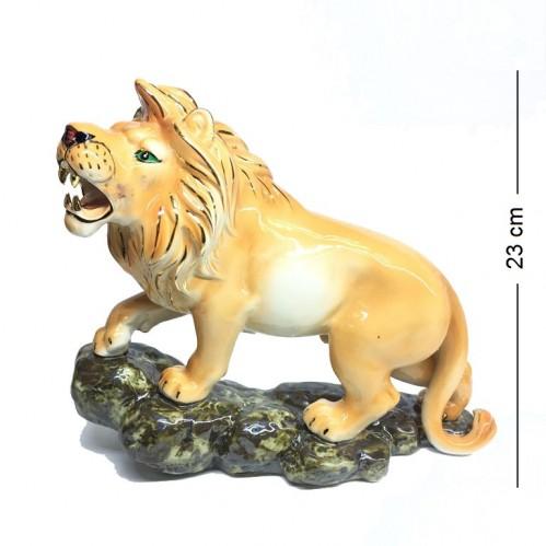 2109015  (12) Фигурка Лев, фарфор, 19*23 см