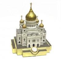 Храм Христа Спасителя с часами 2A (6)  25*27,5см