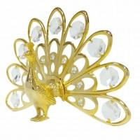 Swarovski  3107 Фигурка Жар - птица с 9 хрусталиками, позолоченная 14*3*9 см