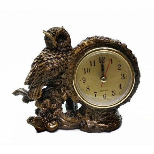 MML16128  (1-96) Часы с совой 14*6*11 см