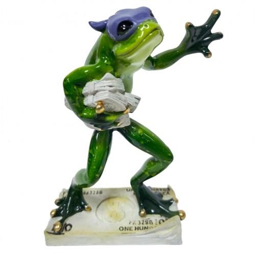 049053  (1-16) Фигурка Лягушка грабитель денег, 14*7*17 см