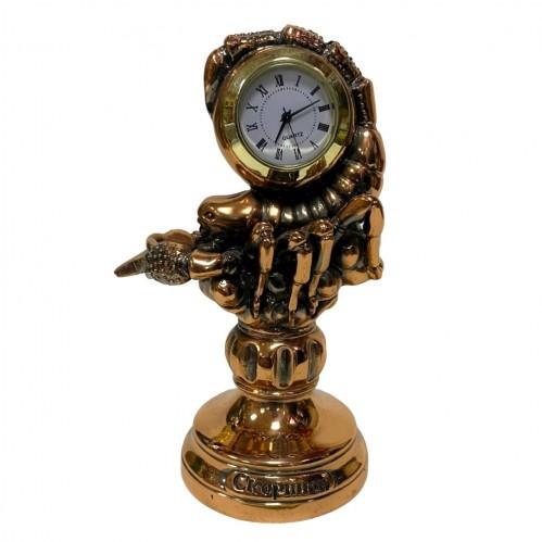Статуэтка 1127 Часы-Знак зодиака  Скорпион  15 см