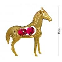 Swarovski   108/R  Фигурка  Лошадь с красными кристаллами.