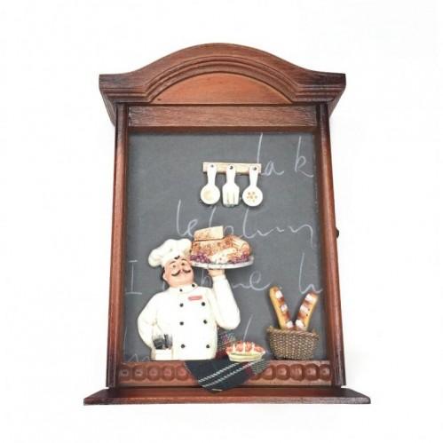 022006  (1-24) Ключница  пекарь-коллаж 6*17*24 см