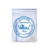 Пакет  PEZ018P прозрач. с замком (100шт)30*40см
