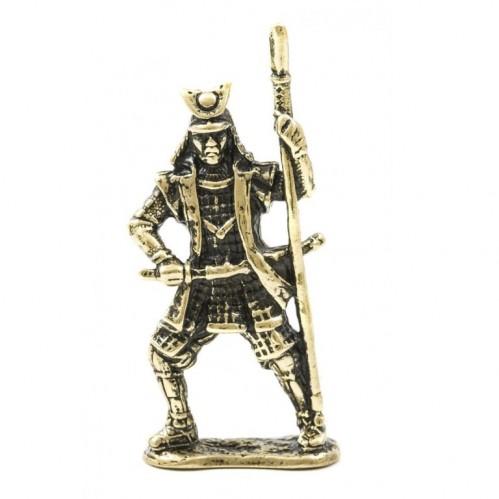 150495 Фигурка литая металлическая Самурай Тайсэй, латунь, в подарочной упаковке