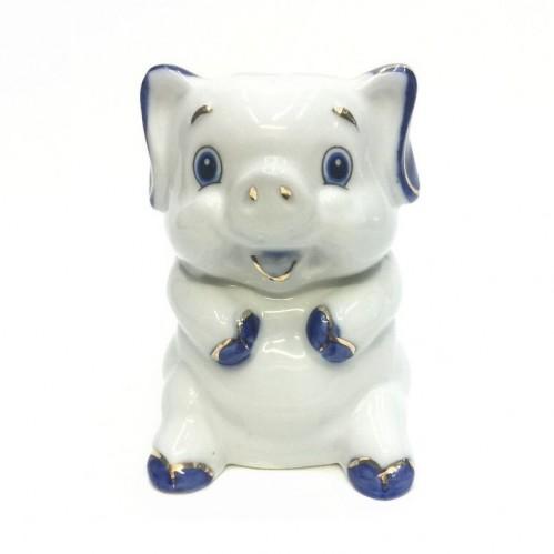 HEN27180  (1-120) Фигурка Свинка, фарфор 6*7*9см