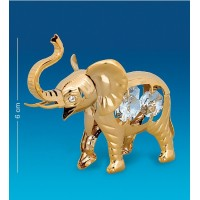 Swarovski  3614  Фигурка Слон большой с 4 хрусталиками, позолоченный 9*4,5*6см.