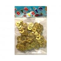 Монеты  03-80  золото 100шт/уп d=15mm
