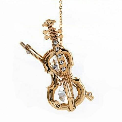 Swarovski  3305/G  Скрипка подвеска 4,5*1,5*9см