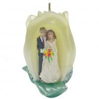 WCD081  (48) СВЕЧА свадебная 6*6*7см