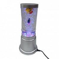 Лампа аквариум с рыбками  A16  (24) 40см, d=8см, с LED подсветкой