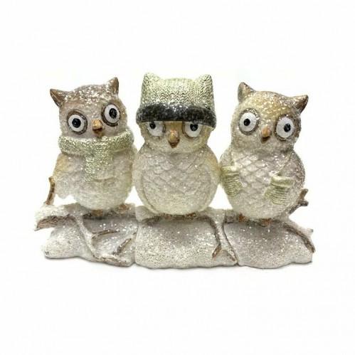 KEN78233  (1-36) Три совы на ветке 16*7*10см