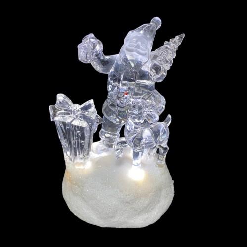 AK8312  (1-12) Санта со светом 10*10*13см