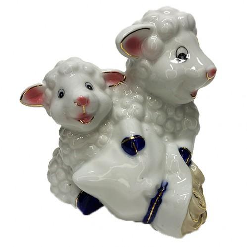 H4806  (1-36) Пара овечок-копилка 12*13 см