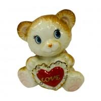 DIN2615  (1-144) Фигурка Мишка с сердечком 7.5*5.5*8см