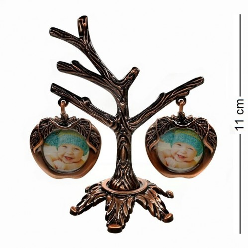 MML14087  (144) Фоторамка Семейное дерево на 2 фото,  11*11см, размер фото d=3см