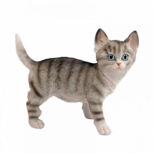 HOL20773  (1-8) Фигурка Серый кот, 23.5*11*20 см