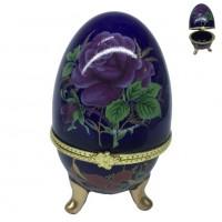 MML14016  (360) Шкатулка - яйцо с розами  5*8см
