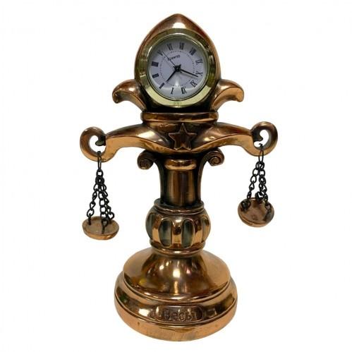 Статуэтка 1128 Часы-Знак зодиака  Весы  15 см