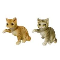 KEN77862-63  (4-96) Фигурка Кошка полосатая 2 вида, 9см