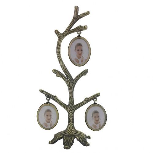 027 (36) Фоторамка дерево на 6 фото, двухсторонняя, 9*19см