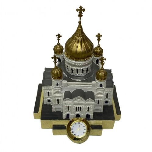 Храм Христа Спасителя с часами 2B  12*14см