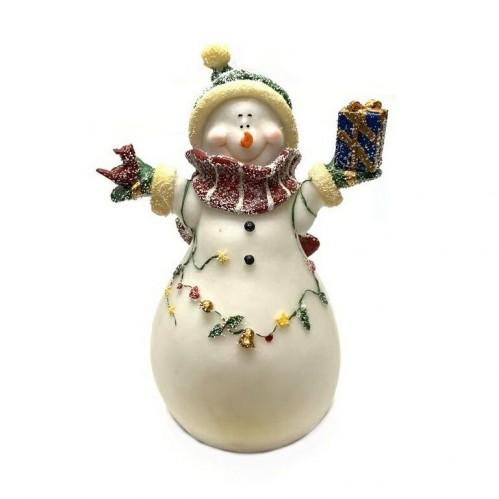 HOL21332  (1-12) Снеговик со светом 14*10*20см