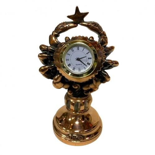 Статуэтка 1136 Часы-Знак зодиака Рак 15 см