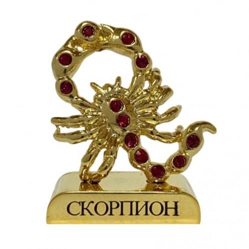 Swarovski  3763/G-11  Фигурка Скорпион знак зодиака с хрусталиками  4,5см