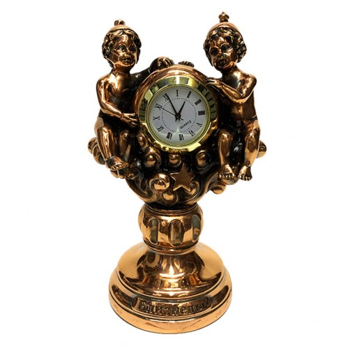 Статуэтка 1131 Часы-Знак зодиака Близнецы 15 см