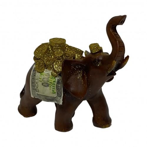 EPW31579  (1-72) Слон с деньгами 10*5*10см