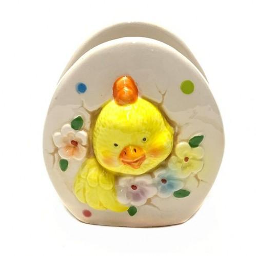 036002  (6-96) Подставка  для салфеток Цыпленок в яйце 7*78см