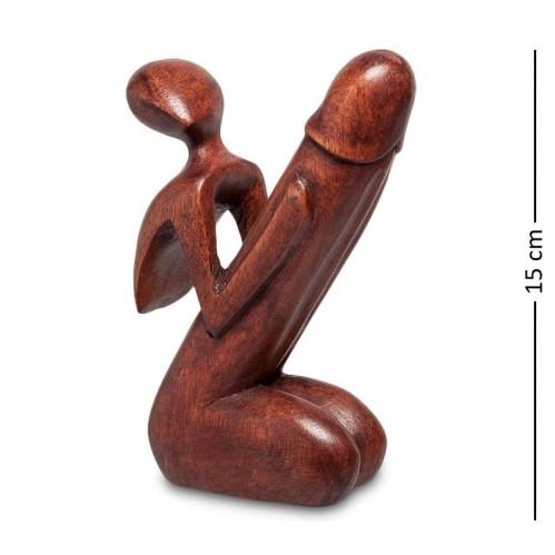 91-007 Статуэтка Абстракция, Символ плодородия 15см (красное дерево)