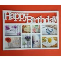 Фотоколлаж  AT-1464  (18) 8ф. Happy Birthday 58*40см