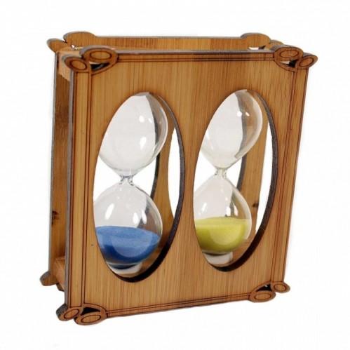MML14383  (1-80) Часы песочные двойные 10.5*3*10.5 см