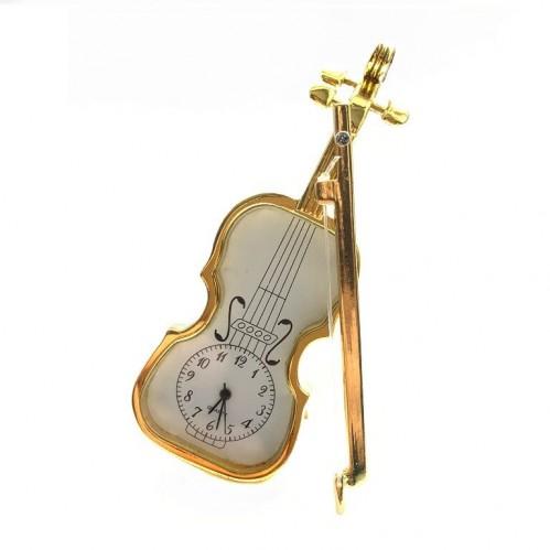 Настольный металический сувенир с часами