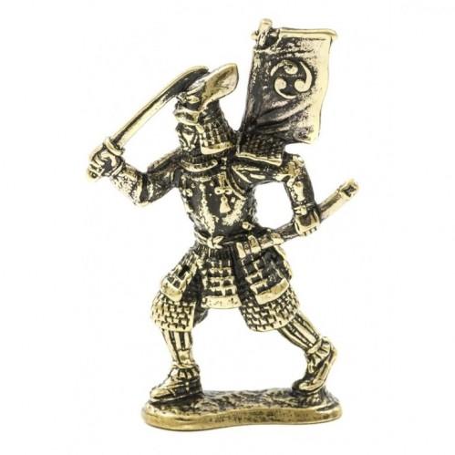 150471 Фигурка литая металлическая Самурай Сёгун, латунь, в подарочной упаковке