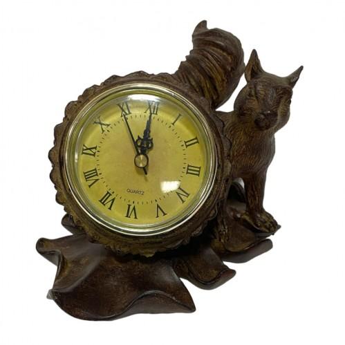 JNW6559  (1-12) Часы с белкой 17,5*10*10,5см