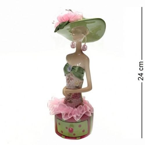 004086  (1-18) Шкатулка-девушка для украшений 11*9*24см