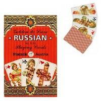 Карты игральные 1134 (12) Золотая Россия 55л.