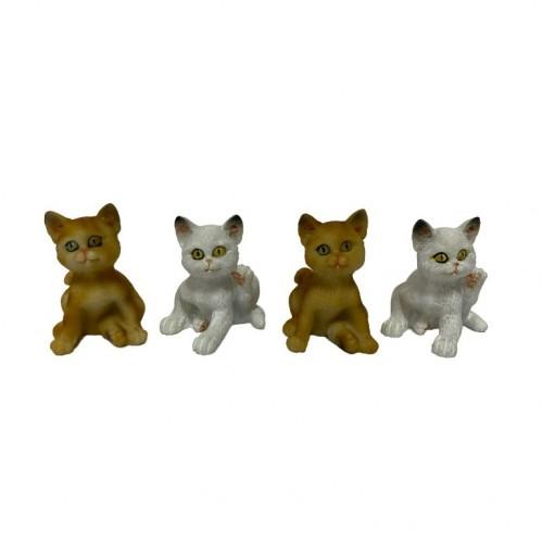 010006  (4-384) Фигурка Кошка 2 вида, 4*3*5см