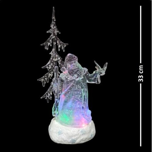 AK8403  (1-6) Санта с музыкой, светом и снегом 15.7*11.7*33см