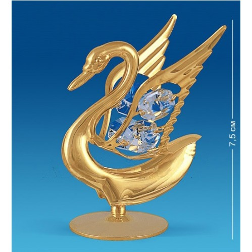 Swarovski  3373  Фигурка Лебедь с кристаллами  6*6*7,5см
