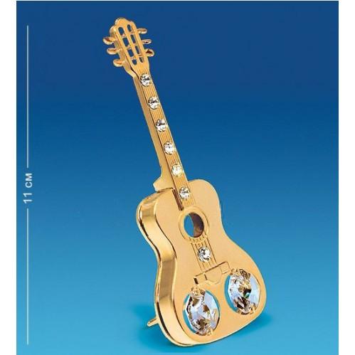 Swarovski  4139  Фигурка  Гитара с 2 прозрачными хрусталиками, позолоченная 4*1*11см.
