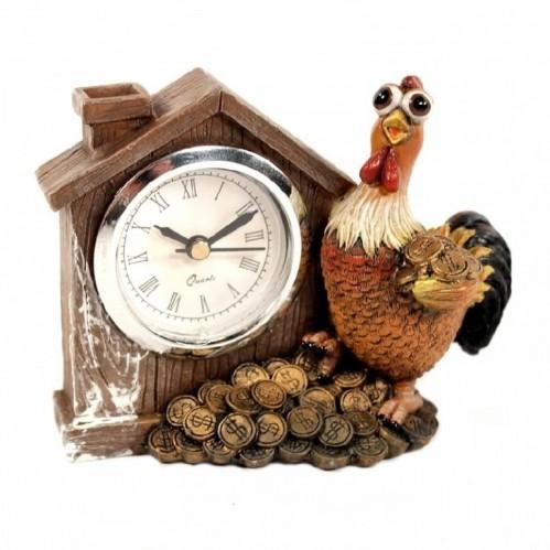 CNR65692*  (1-72) Часы с петушком 11*5*8см