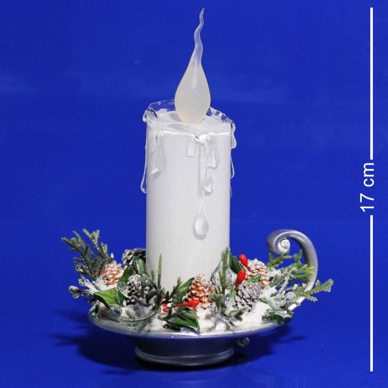 AK7767  (1-18) Светящиеся свеча 11*9*17см