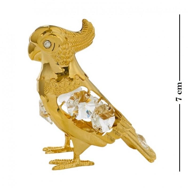 Swarovski 3786 Фигурка Попугай с кристаллами 7,5*3,5*7см