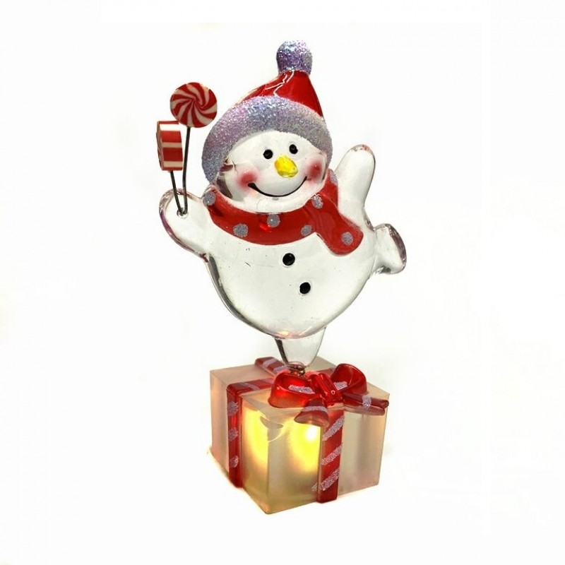 MML15826  (1-120) Снеговик/ Санта со светом 4*11см